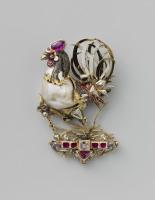 Драгоценности, ювелирные изделия - Кулон в форме петуха