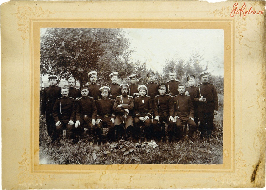 Орловская область - Групповая фотография офицера и нижних чинов 141-го пехотного Можайского полка.