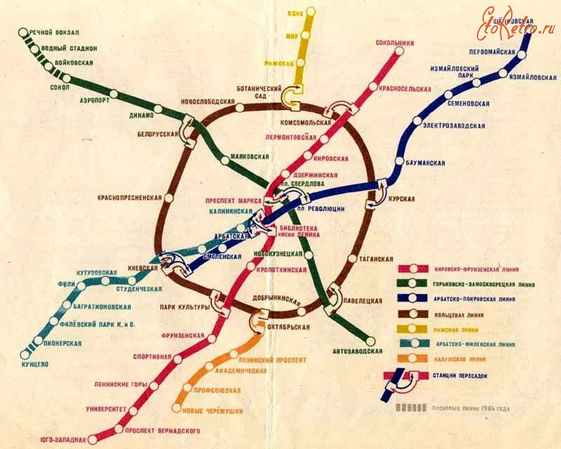 Старые схемы Московского