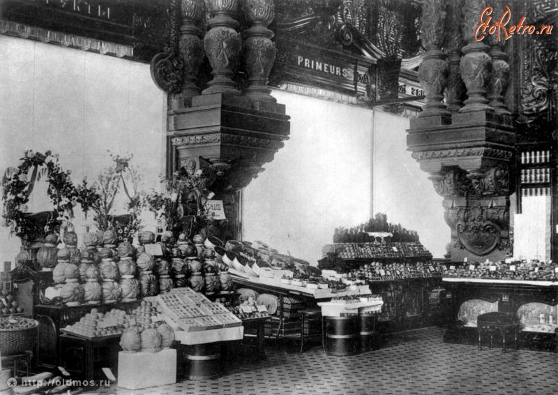 1901 г. Фруктовый отдел в Елисеевском.