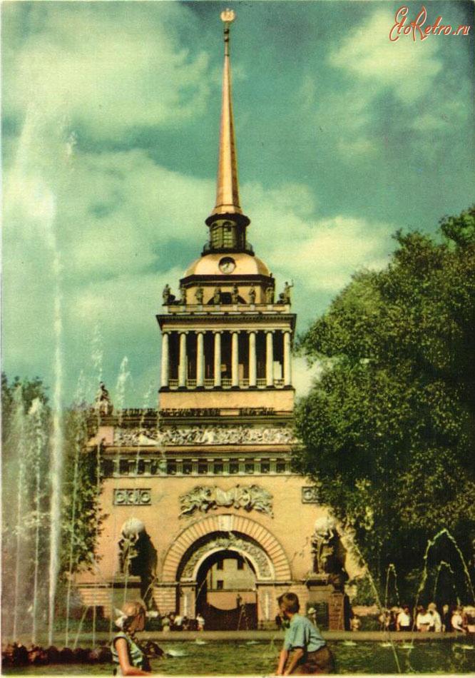 Адмиралтейство в санкт-петербурге открытка