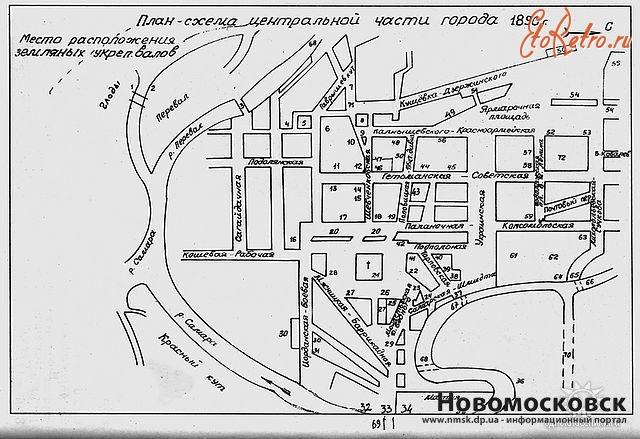 Новомосковск - Схема города