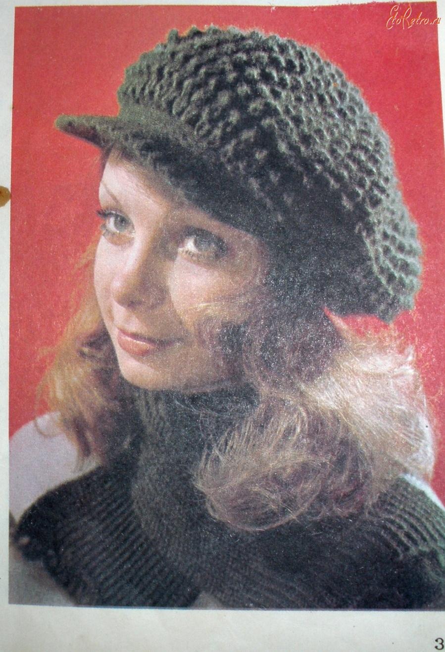 Вязание берета спицами для женщин фото