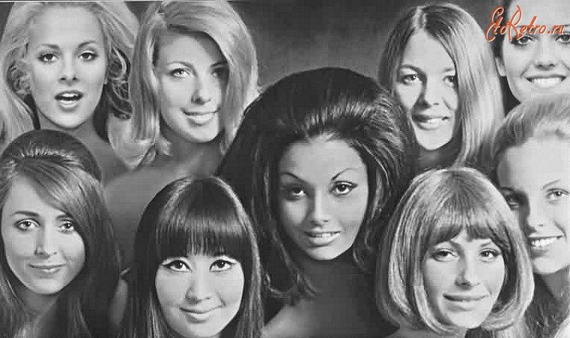 Прическа в стиле 60-х