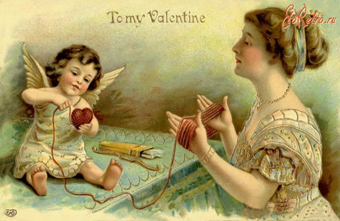 Старинные открытки влюбленных, днем рождения женщине