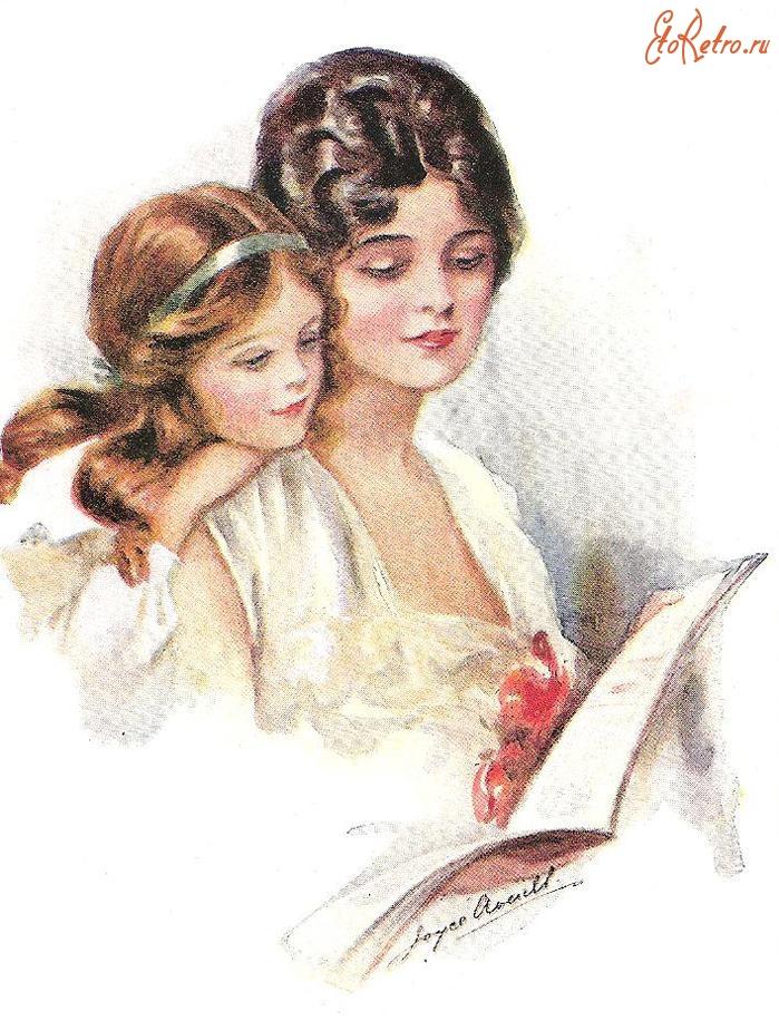 Открытка мать и ребенок