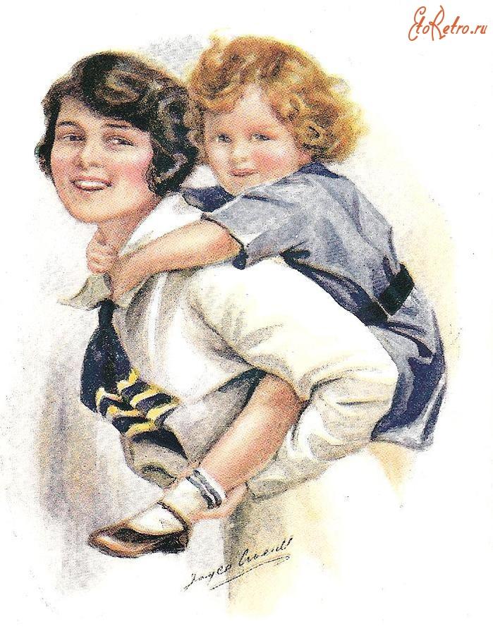 Мать с ребенком открытка
