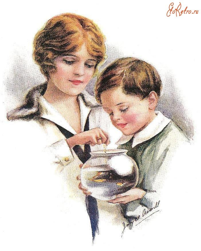 Мама советские открытки