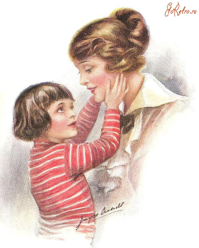 Открытки с детьми и мамами, голосующему