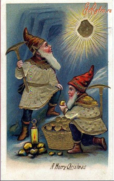 Старинные открытки гномы