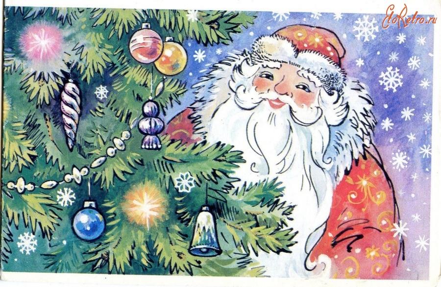 новогодние открытки фото советские