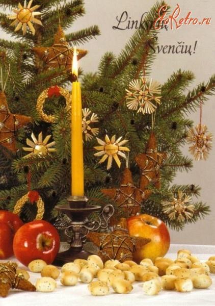 Литовские новогодние открытки