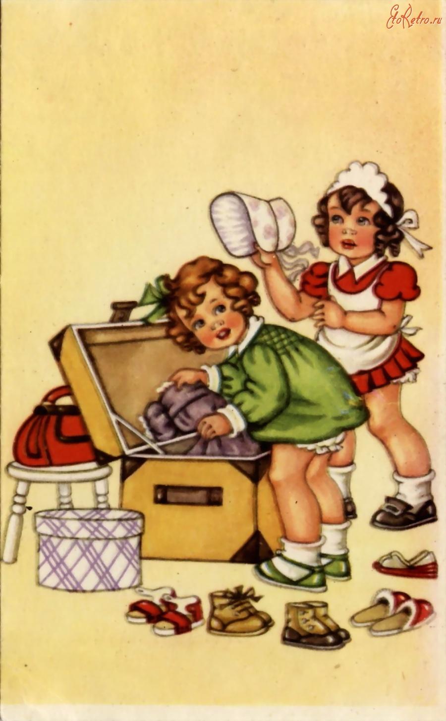 Немецкие открытки с о школой