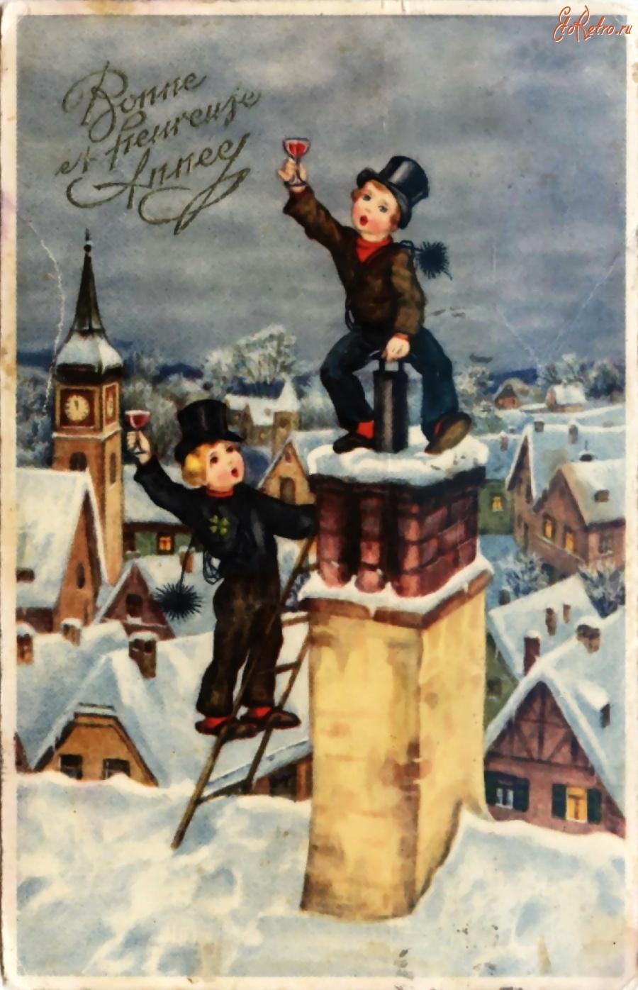 Праздником николая, немецкие новогодние открытки старые