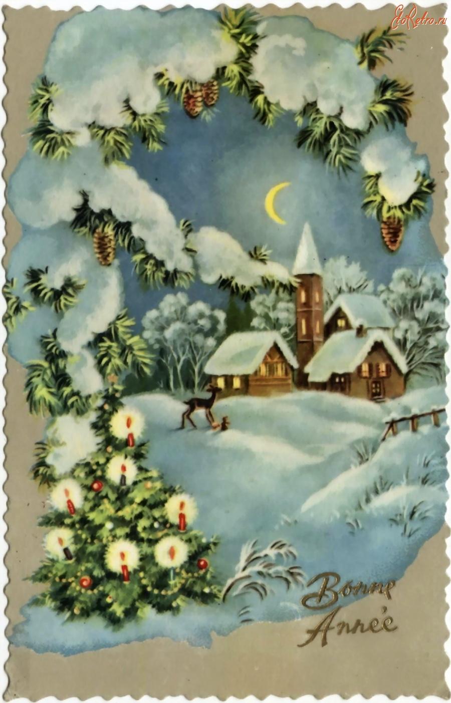 Старинные зарубежные открытки с новым годом