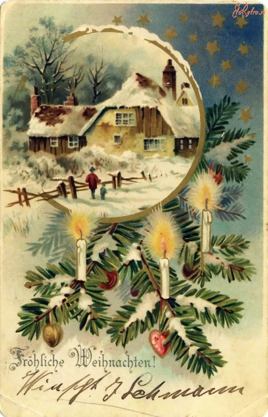 Днем, рождественские открытки переводчик