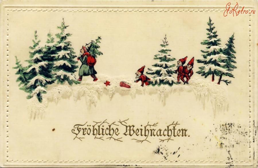 Открытки немецкие рождество