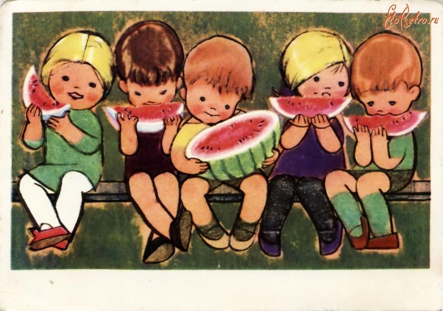 Открытки из нашего детства художник