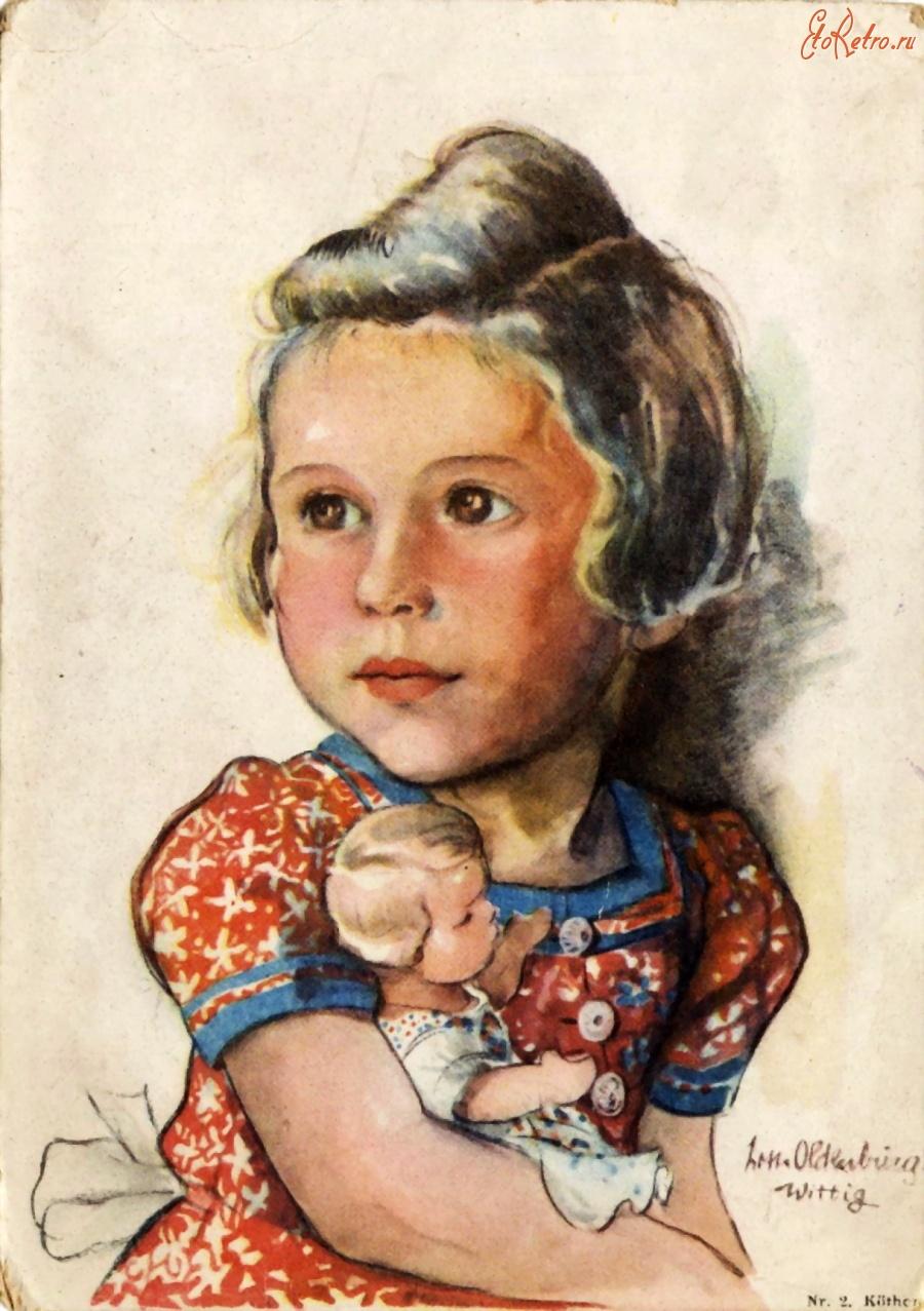 Девочка с куклой открытка 10