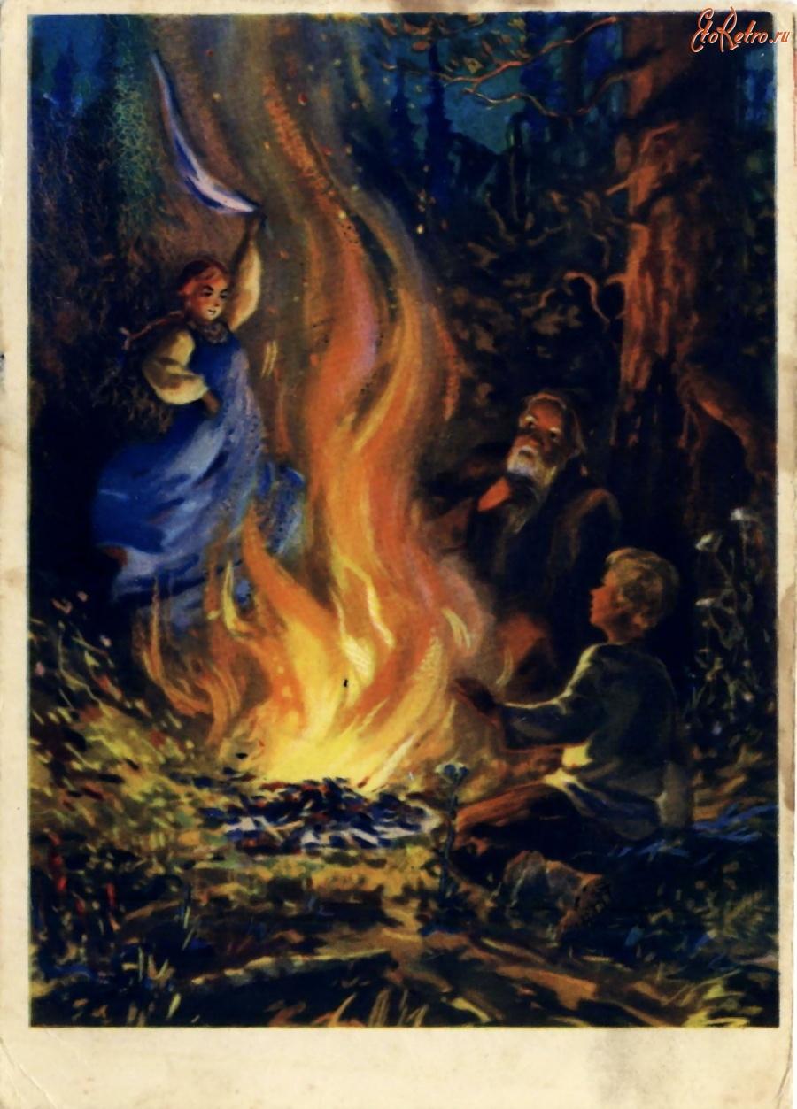 Делать, картинки к сказкам бажова огневушка поскакушка