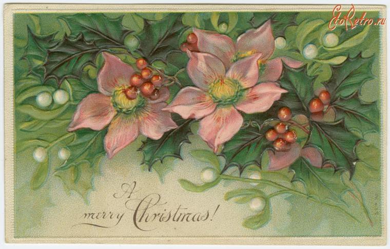 Цветок для новогодней открытки, форме кружки