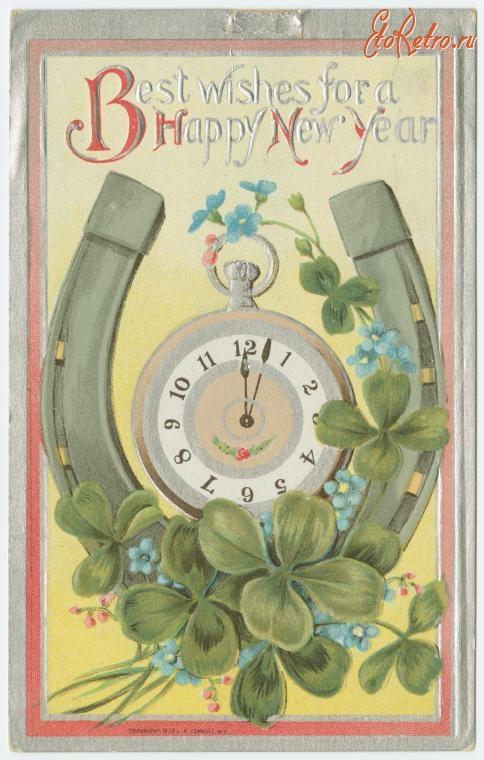 Старинные открытки с пожеланиями счастья, ерунда день