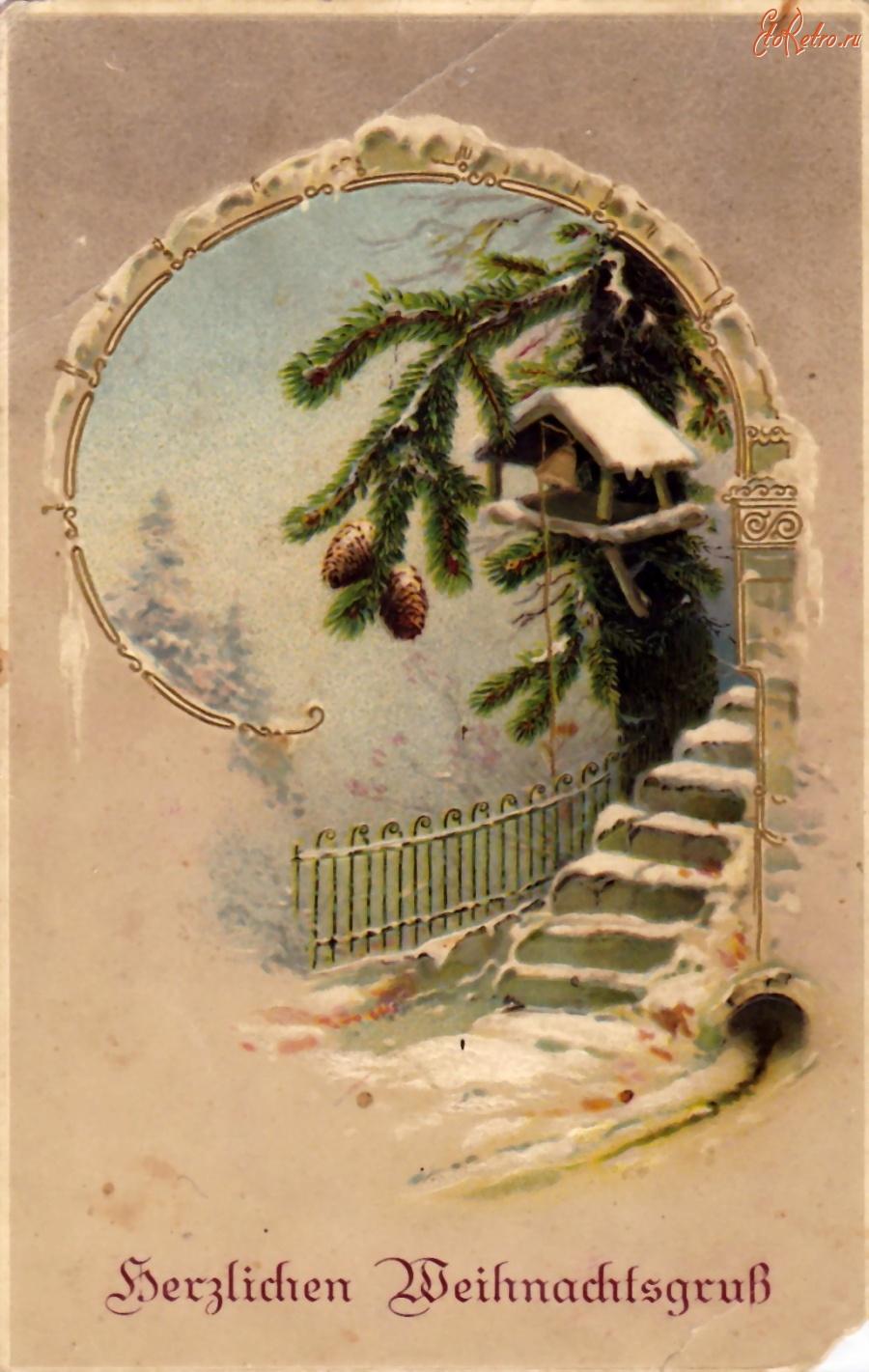 Старые рождественские открытки (91 фото) 93