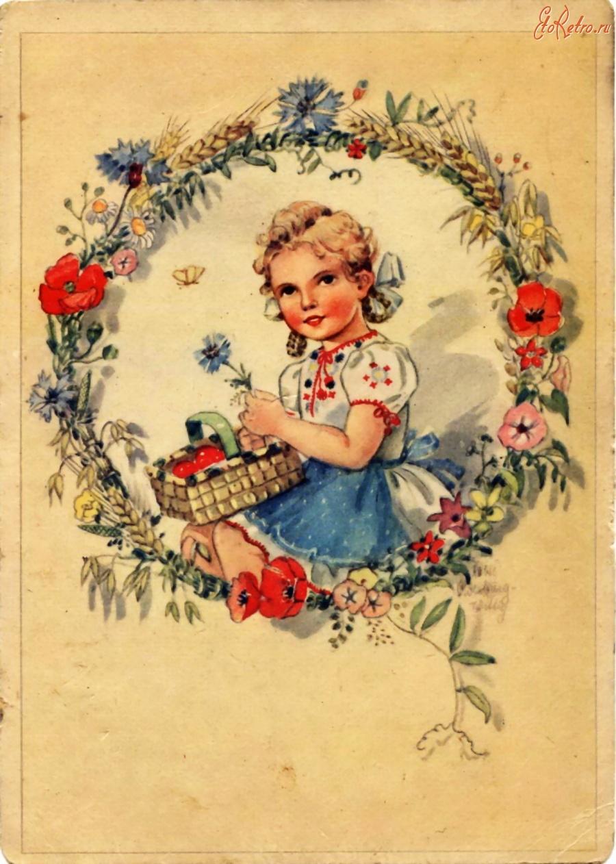 фотографии, выбрав старинные красивые открытки появлением