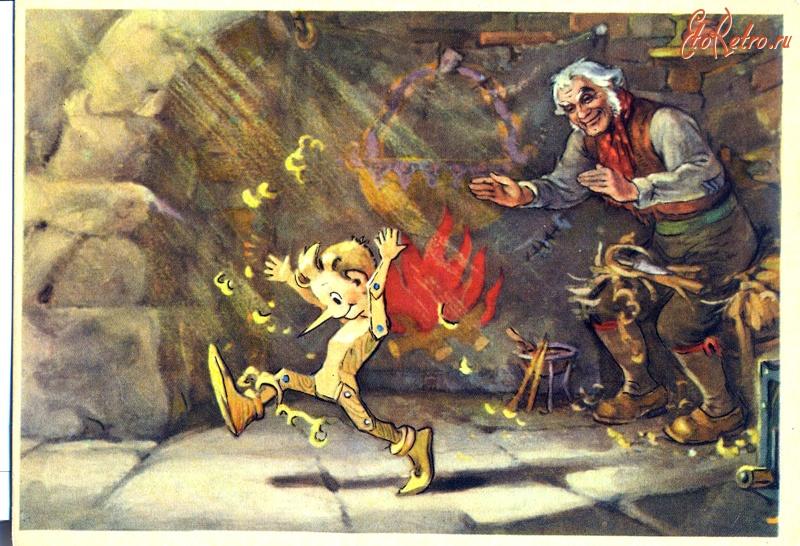 Анимация, набор открыток история пиноккио буратино цена