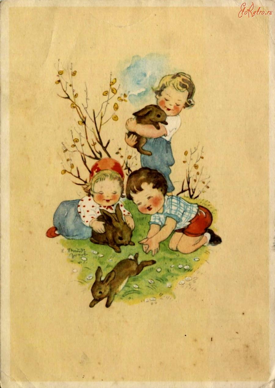 жуткая очень старые открытки любителей