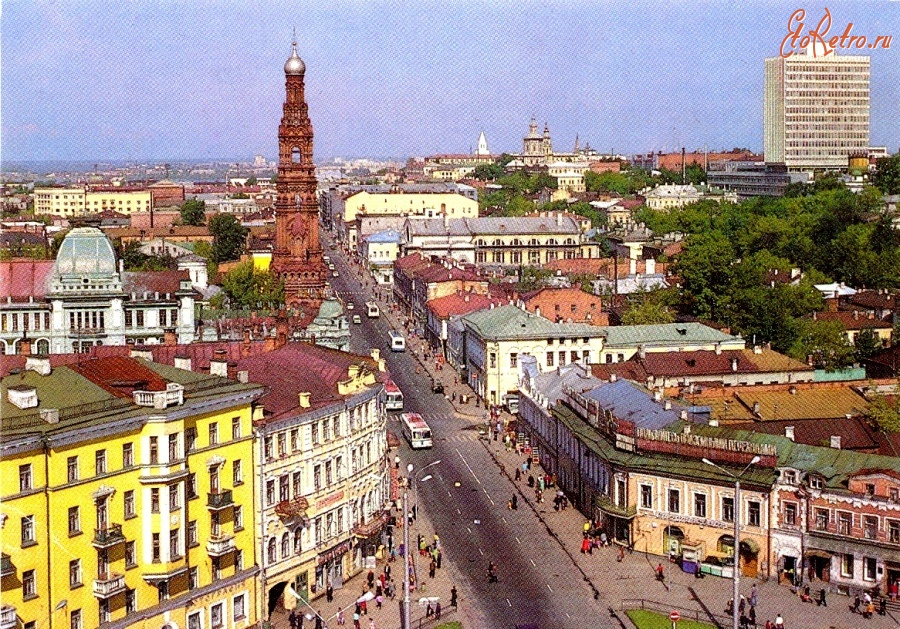 Казанские улицы советских времен фото выбиралась