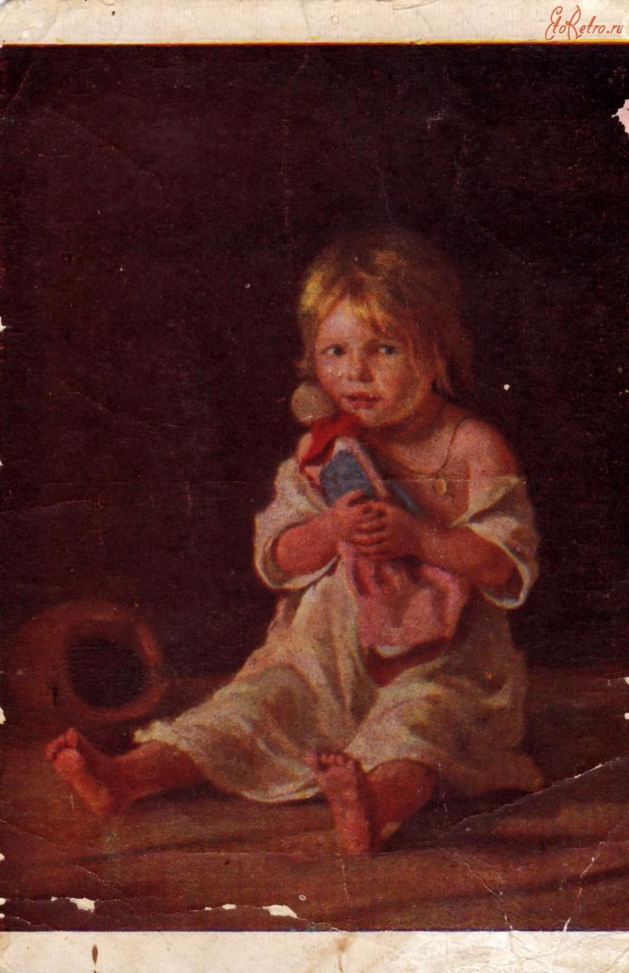 Девочка с куклой открытка 50