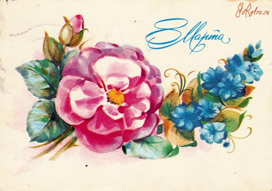 Рисунок 60 лет с цветами