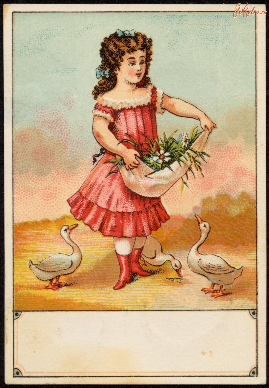 Девочка с цветами открытка 95