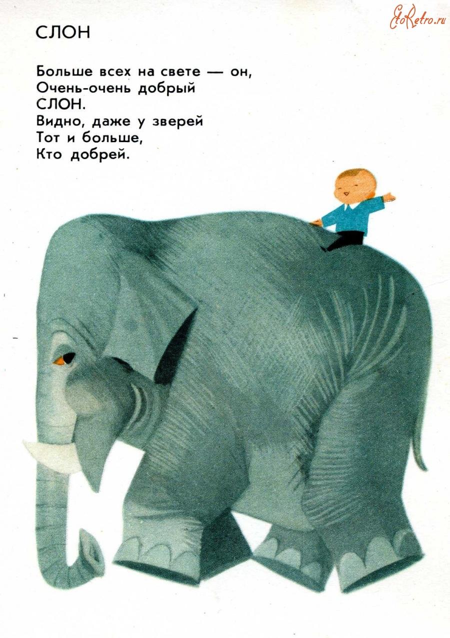 Открытка со слоном доброе утро