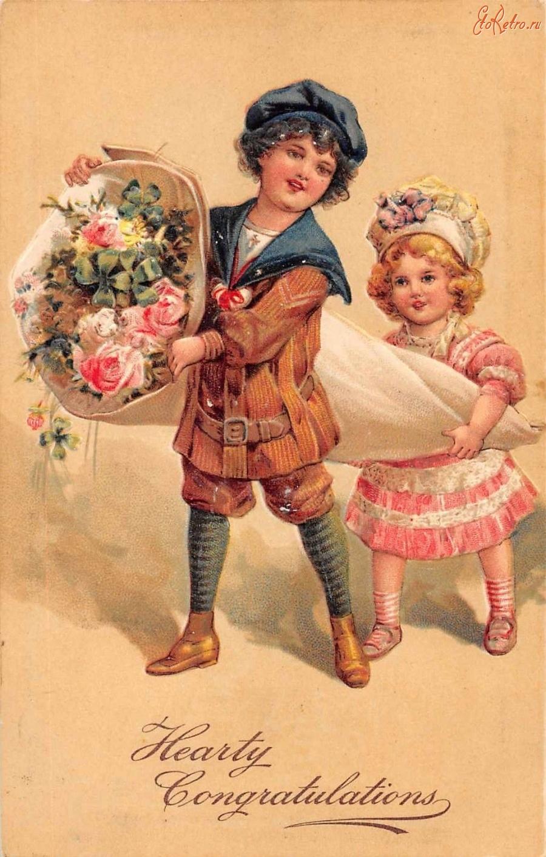 История ретро открытки, днем железнодорожника словами