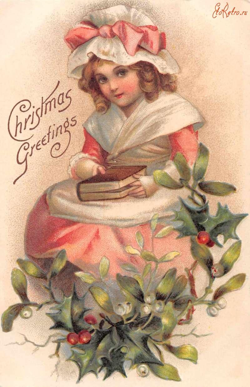 Открытки 1900 года с рождеством