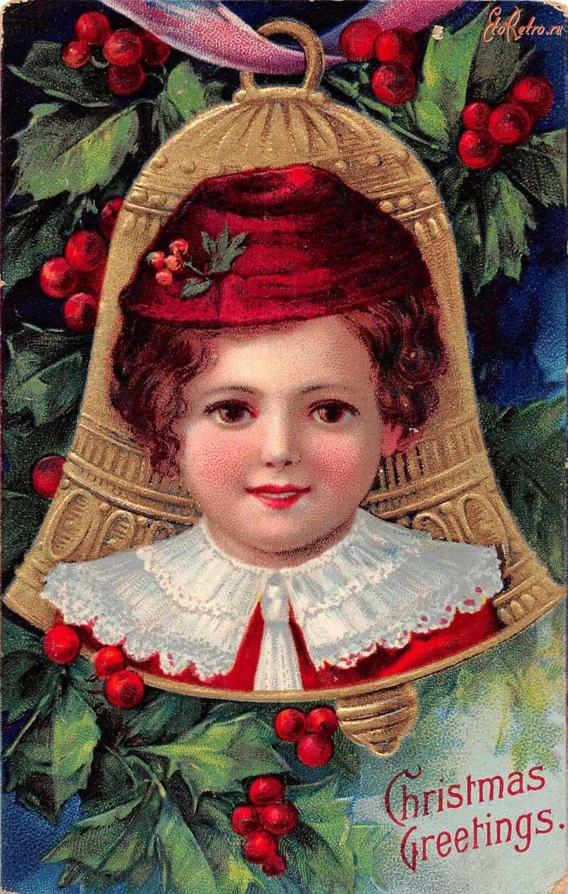 Для, старые рождественские открытки фото