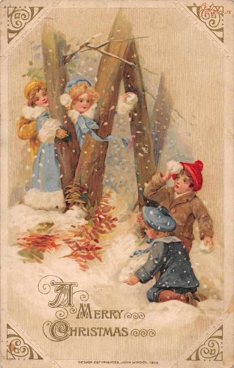 Рождественская открытка 1913 года