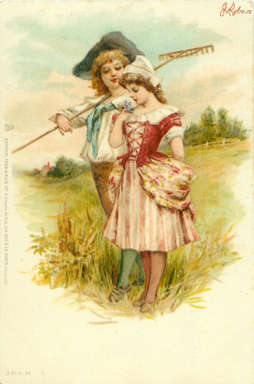 История ретро открытки