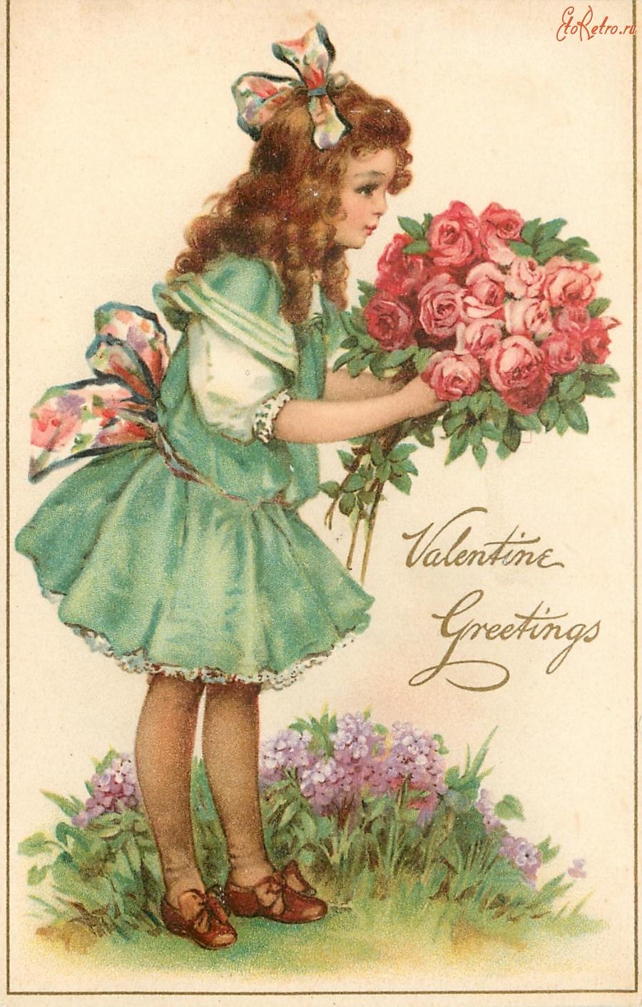 Доброе утро, открытка розы дети