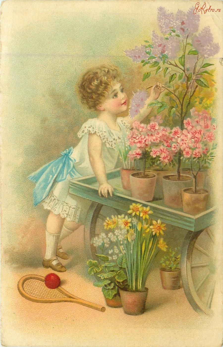 Надписью дима, день рождения детей открытки старинные
