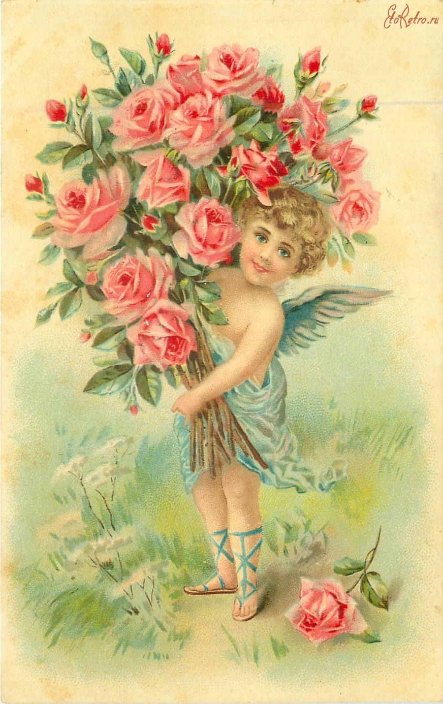 Открытка с днем рождения ангелочки