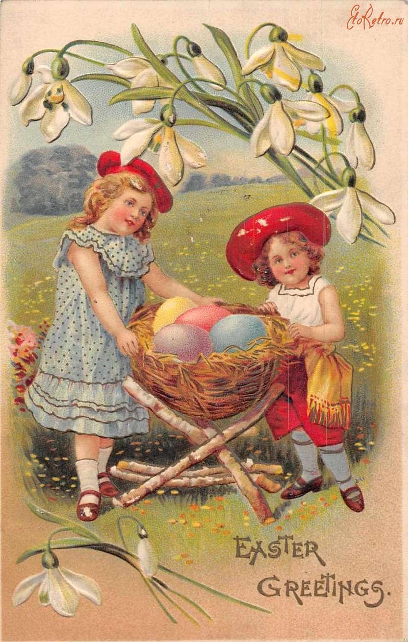 домашних старые пасхальные открытки вам