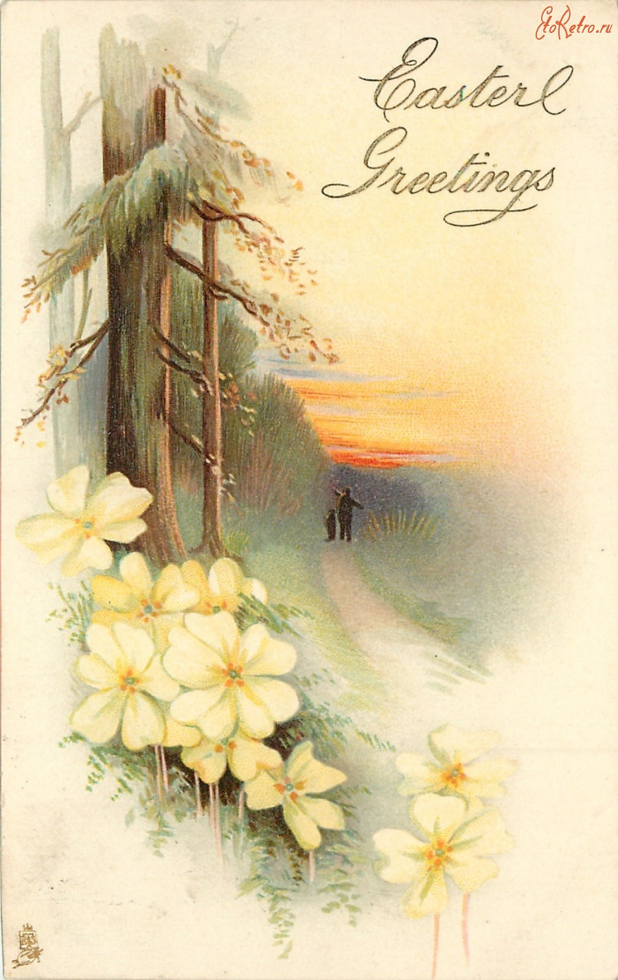 Картинки носки, пейзаж старинные открытки