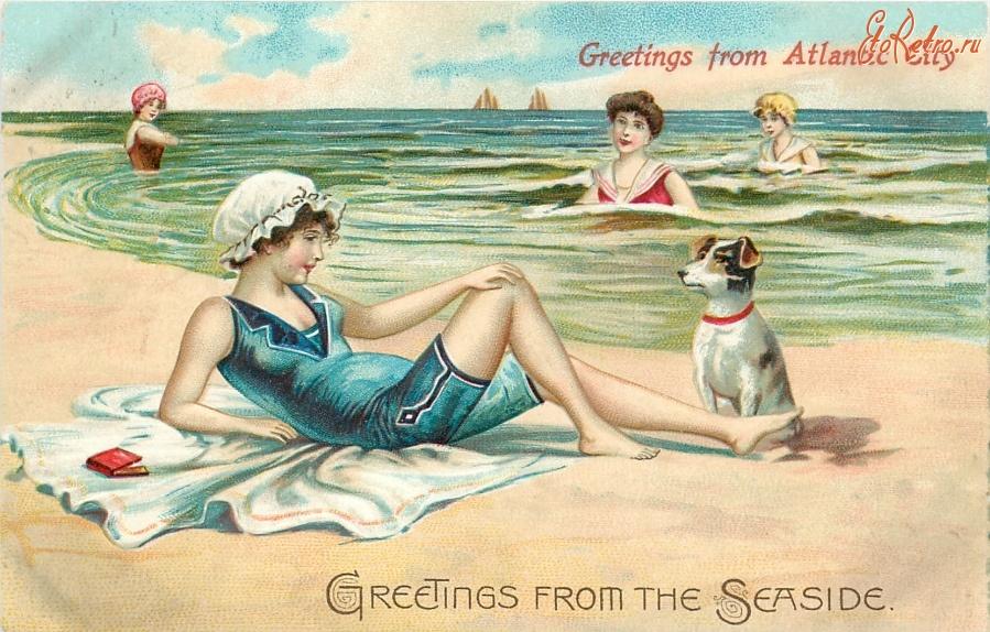 Ретро открытки с морем