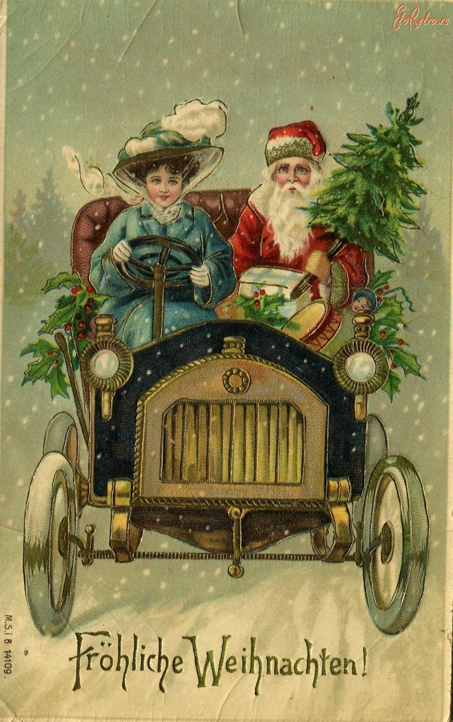Ретро открытки с новым годом фото