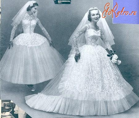 свадебные платья 50 х годов