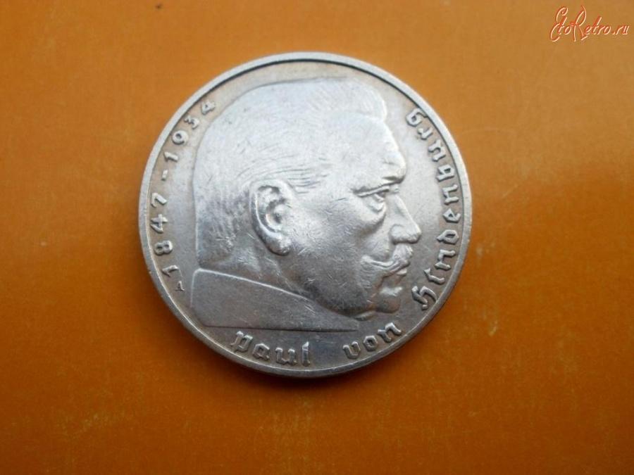 1937 г. Старинные деньги (бумажные, монеты) - Германия. Третий Рейх. 2 марки