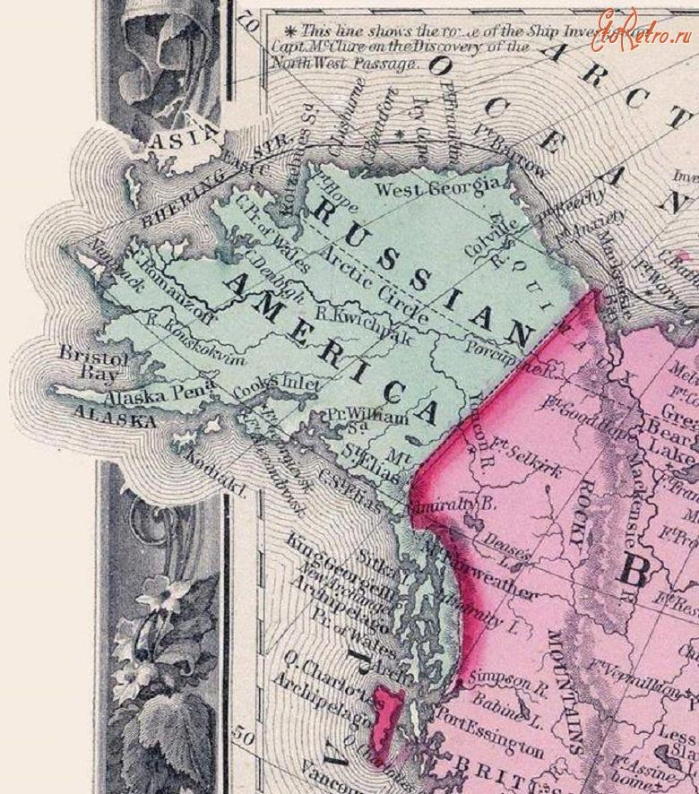 28 февраля 1825 - РОССИЯ И АНГЛИЯ РАЗДЕЛИЛИ МЕЖДУ СОБОЙ СЕВЕРНУЮ АМЕРИКУ